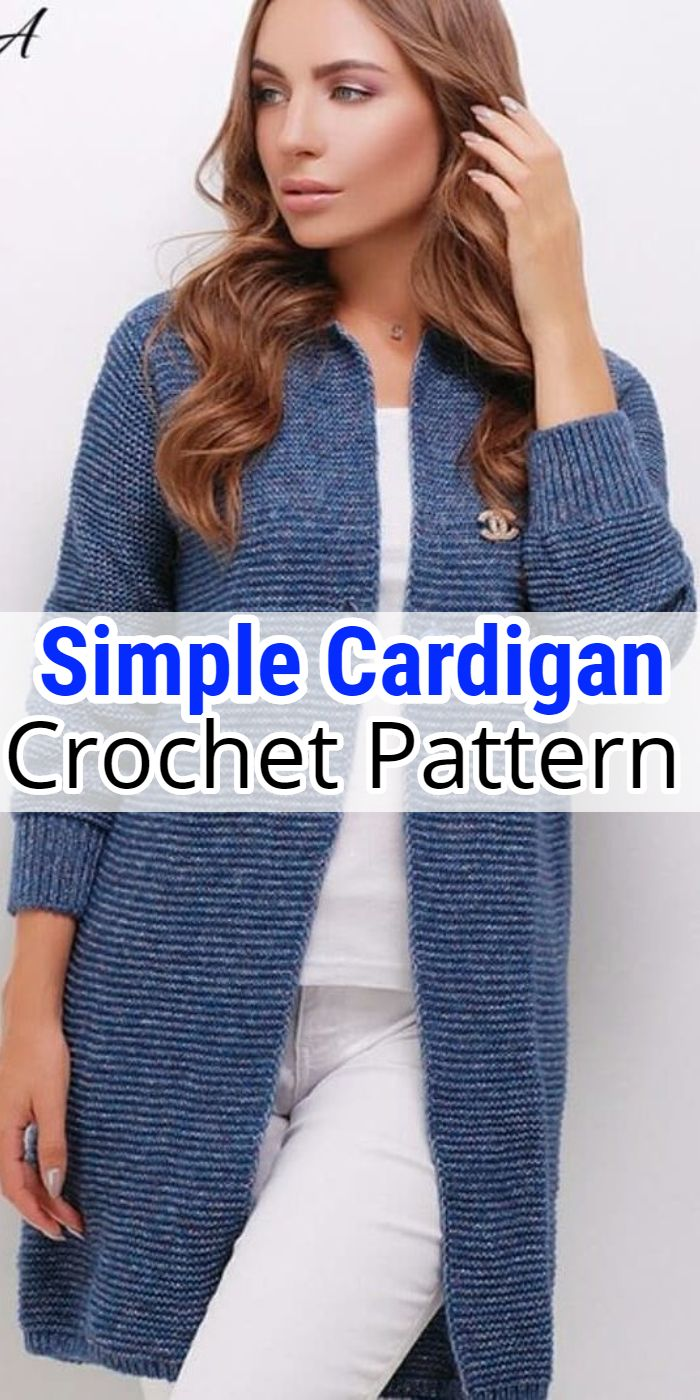 Simple Crochet Cardigan Pattern