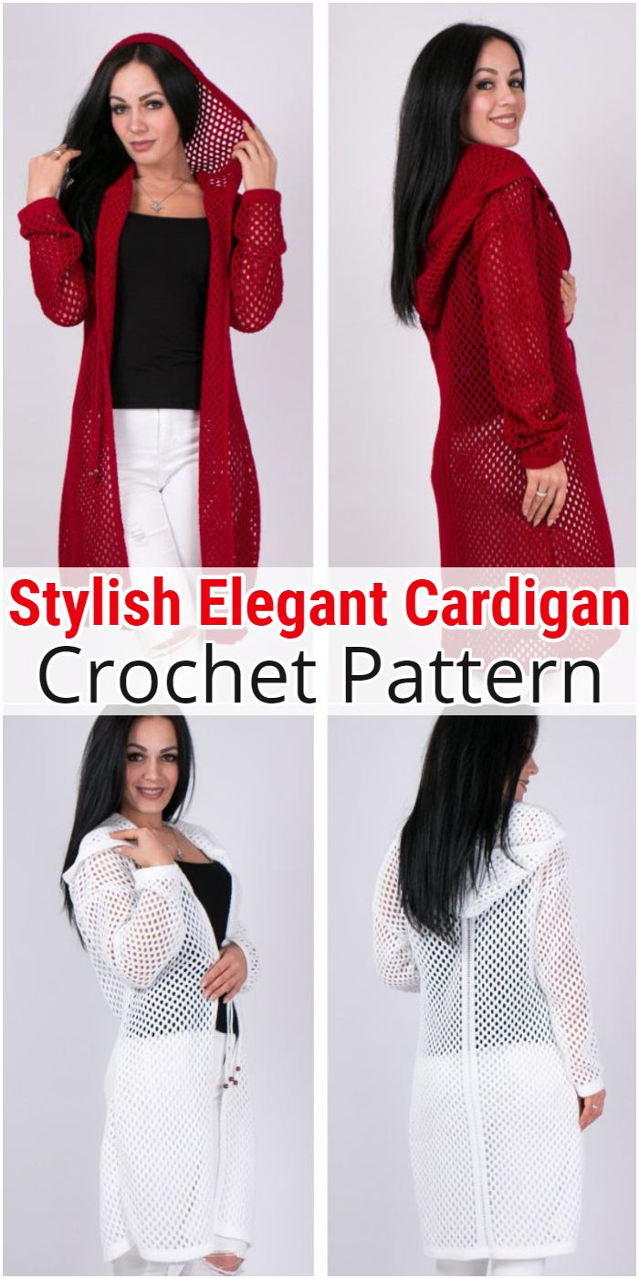 Stylish Elegant Cardigan Crochet Pattern