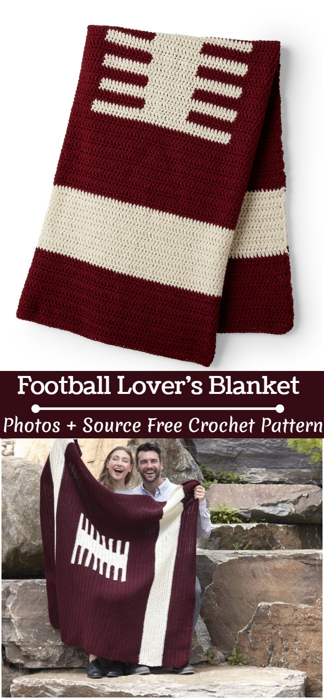 Crochet Football Lover's Blanket Pattern
