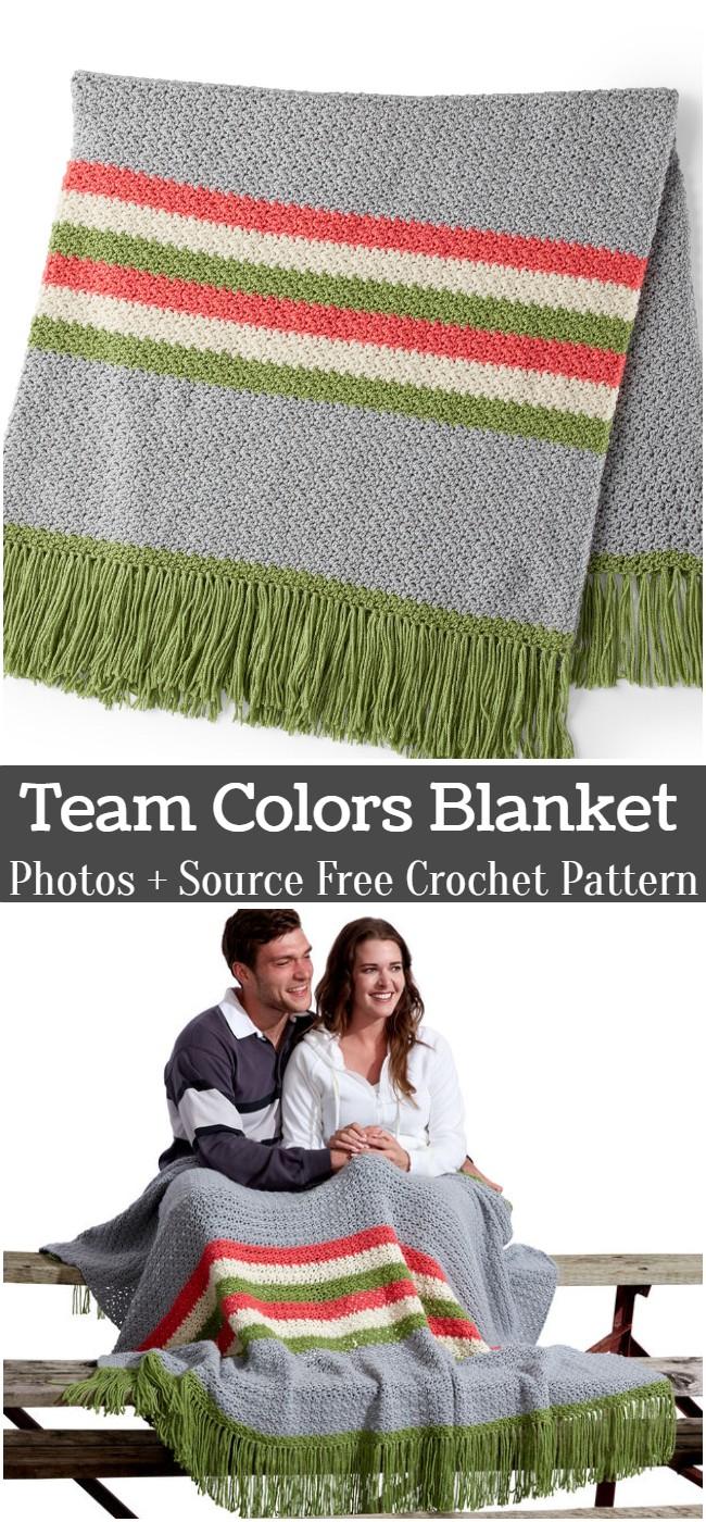 Crochet Team Colors Blanket Pattern