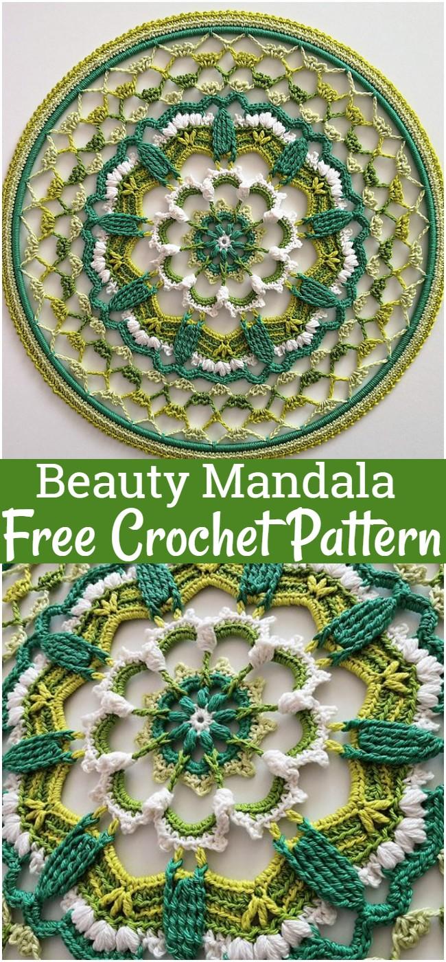Free Crochet Beauty Mandala Pattern