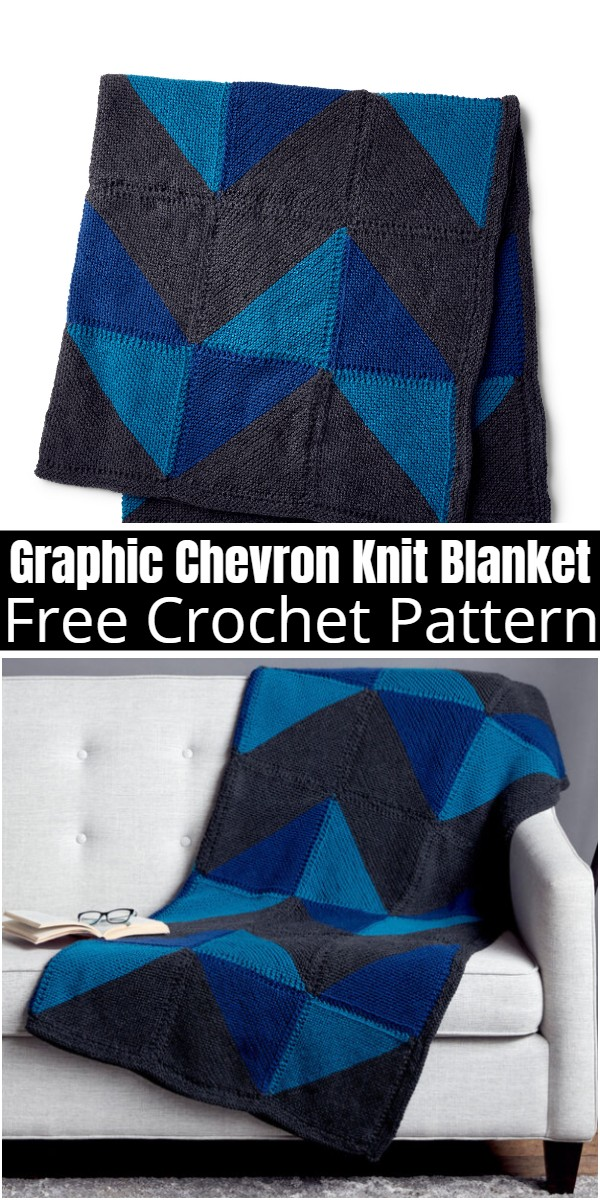 Graphic Chevron Knit Blanket