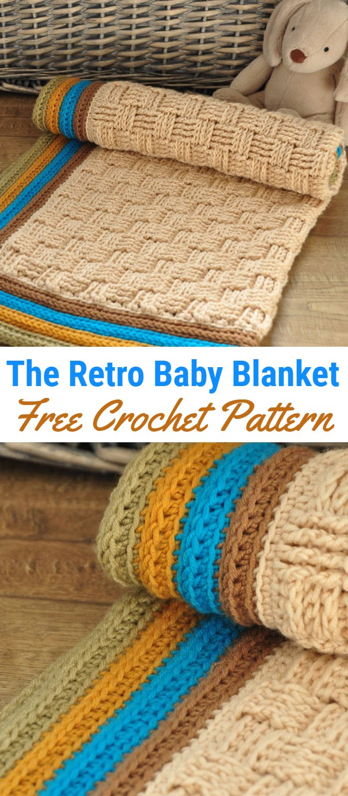 The Retro Baby Blanket – Free Crochet Pattern