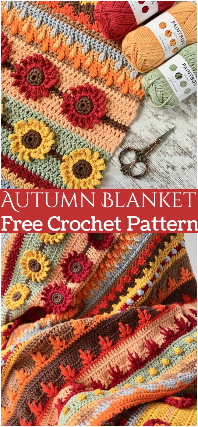 Crochet Autumn Blanket Pattern