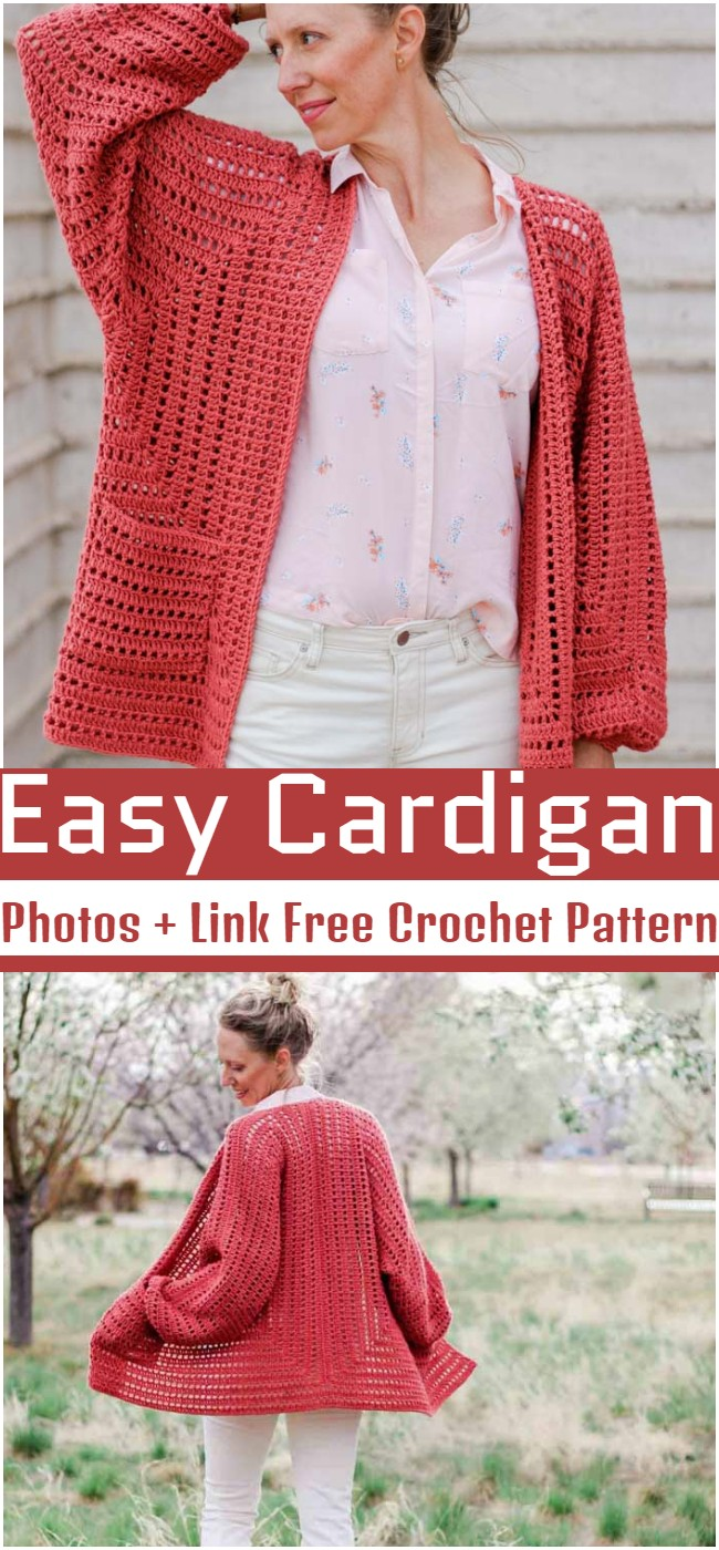 Crochet Easy Cardigan Pattern