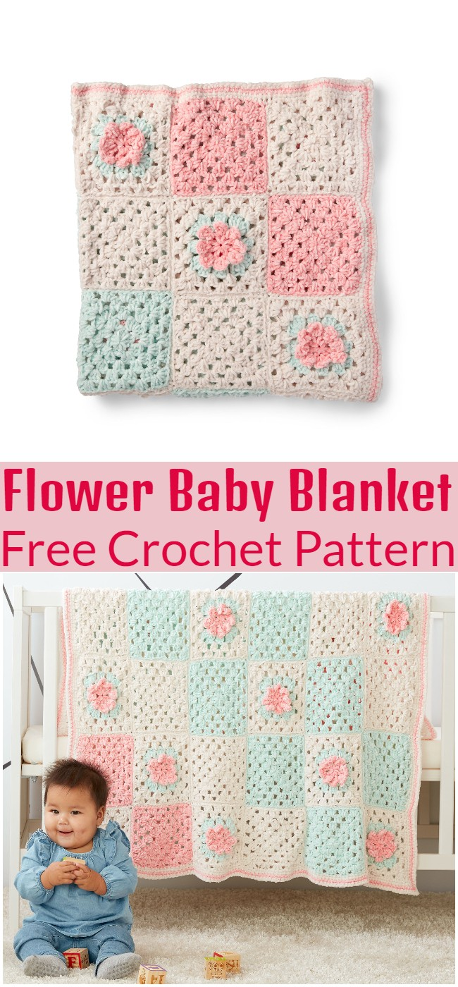 Crochet Flower Baby Blanket Pattern