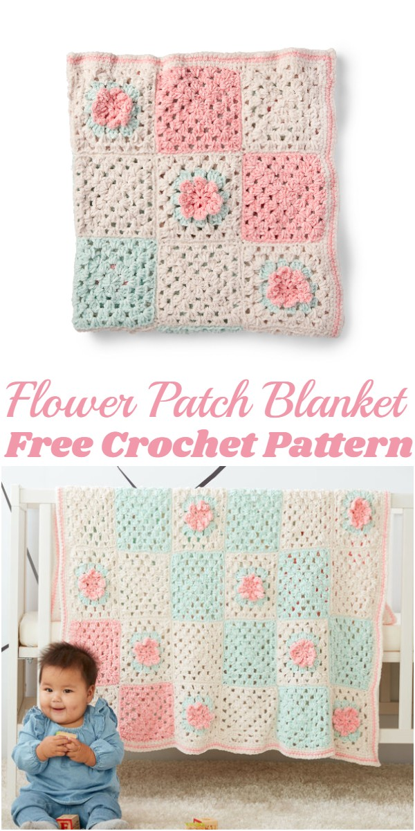Crochet Flower Patch Blanket