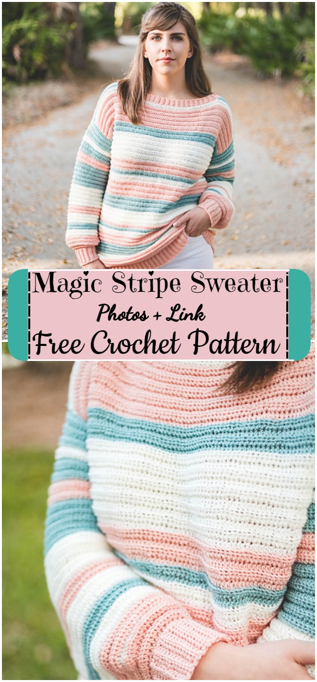 Crochet Magic Stripe Sweater Pattern