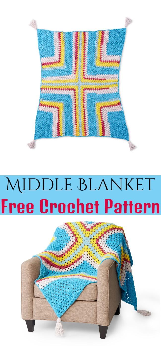 Crochet Middle Blanket Pattern
