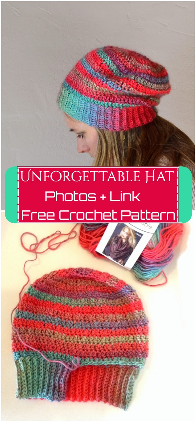 Crochet Unforgettable Hat Pattern