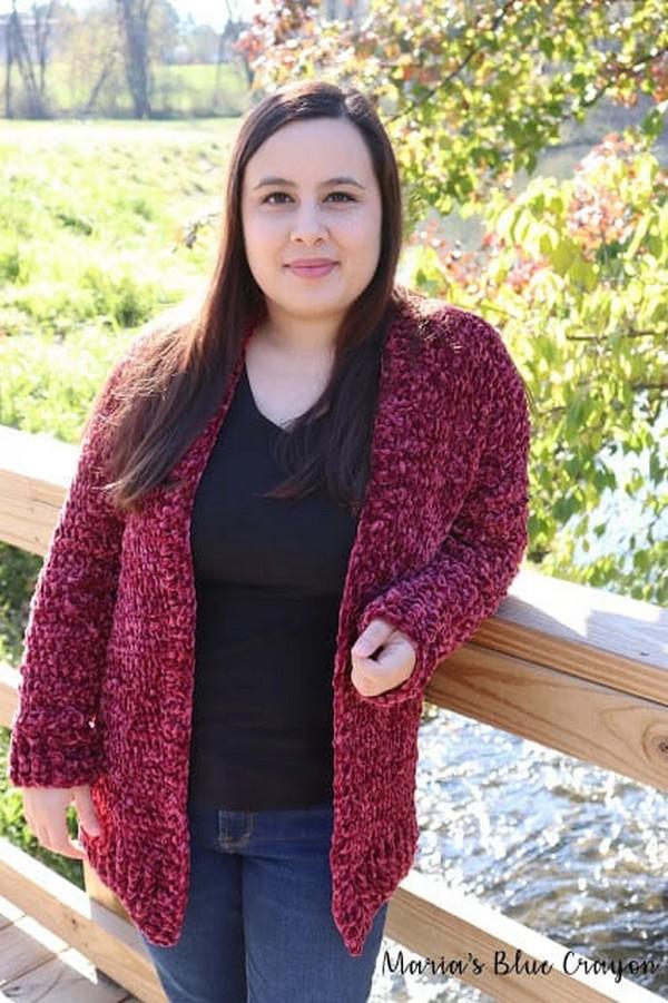 Crochet Velvet Cardigan Pattern