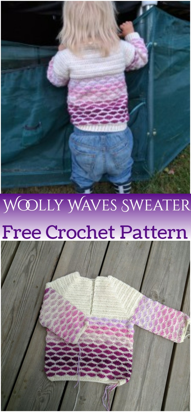Crochet Woolly Waves Sweater Pattern