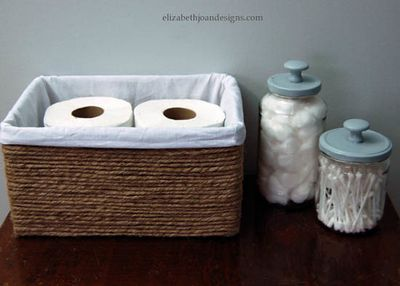 DIY Boxes into Baskets Idea
