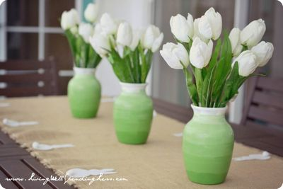 DIY Dollar Store Ombre Vases