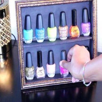 DIY Fingernail Polish Display Stand