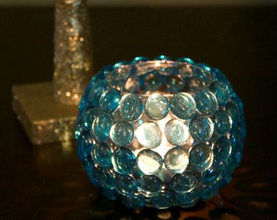 DIY Glass Bead Vase Dollar Store Idea