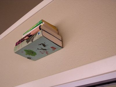 DIY Invisible Book Shelf Idea