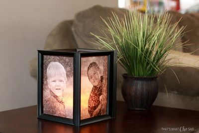 DIY Picture Frame Luminaries