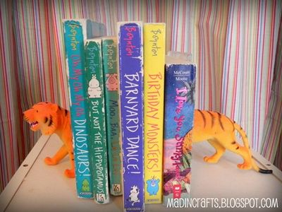Dollar Store Plastic Animal Bookends