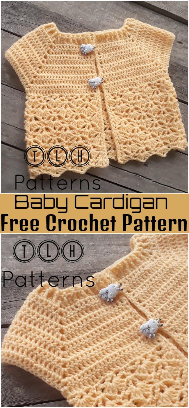 Free Crochet Baby Cardigan Pattern