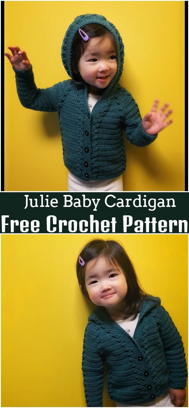 Free Crochet Julie Baby Cardigan Pattern