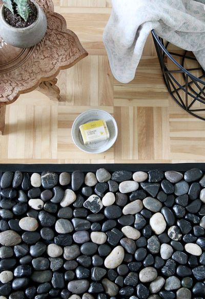 Make Your Own Diy Spa-inspired Pebble Bath Mat