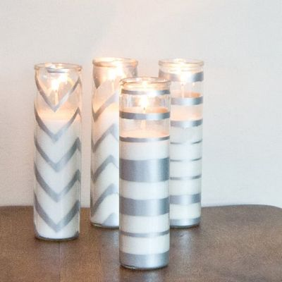 Sparkling Spray-painted Candles Idea