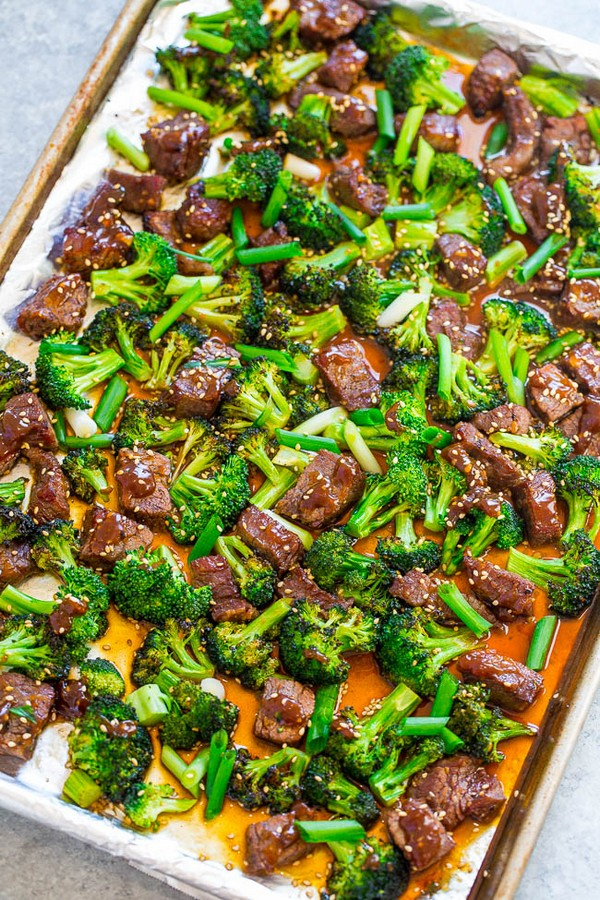 15-Minute Sheet Pan Beef and Broccoli