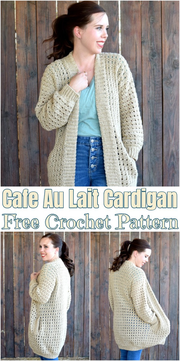 Cafe Au Lait Cardigan Crochet Pattern