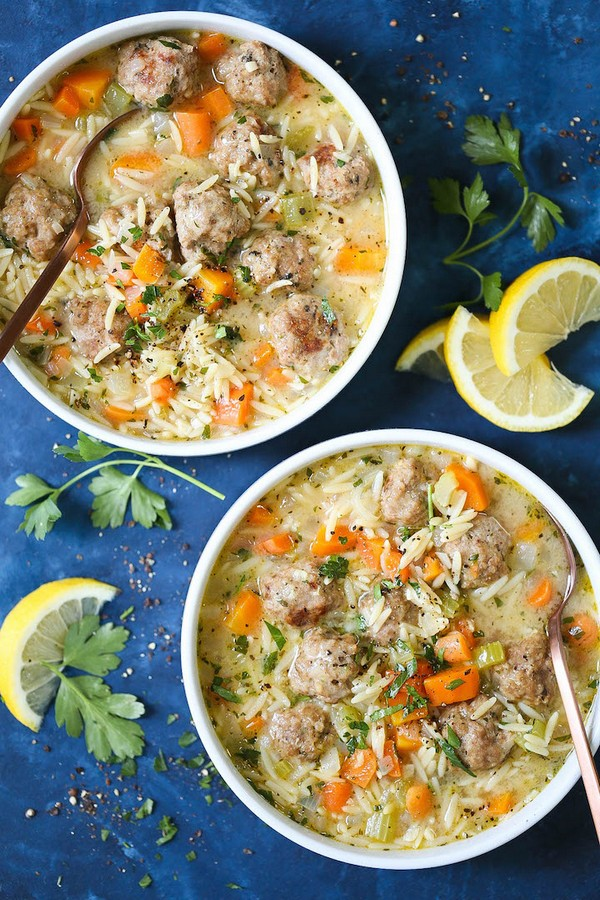 Chicken Meatball Noodle Soup