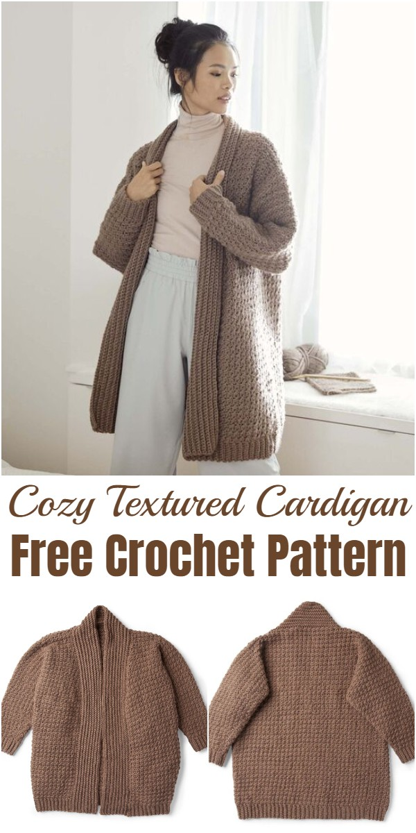 Crochet Cozy Textured Cardigan