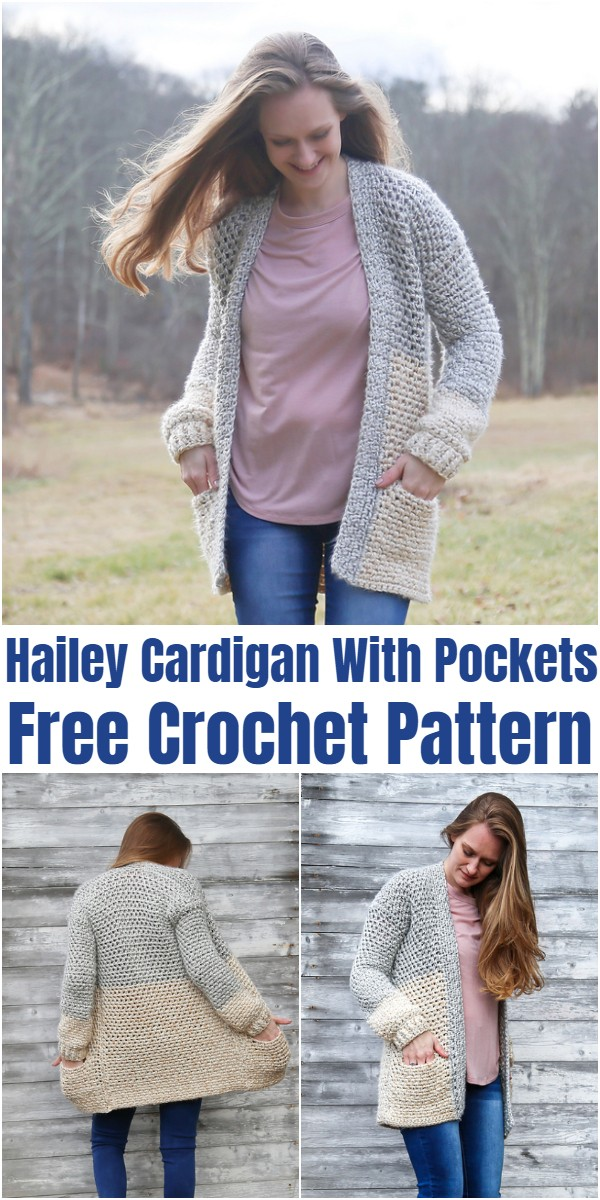Crochet Hailey Cardigan With Pockets Pattern
