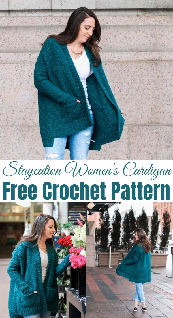 Crochet Staycation Women's Cardigan Pattern