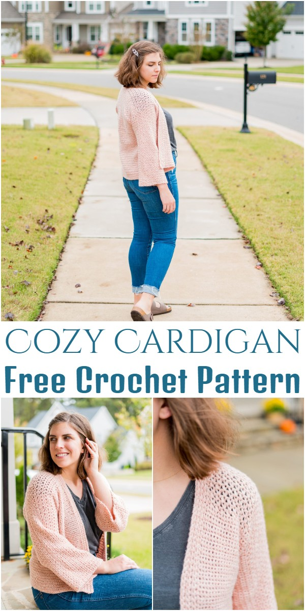 Free Crochet Cozy Cardigan Pattern