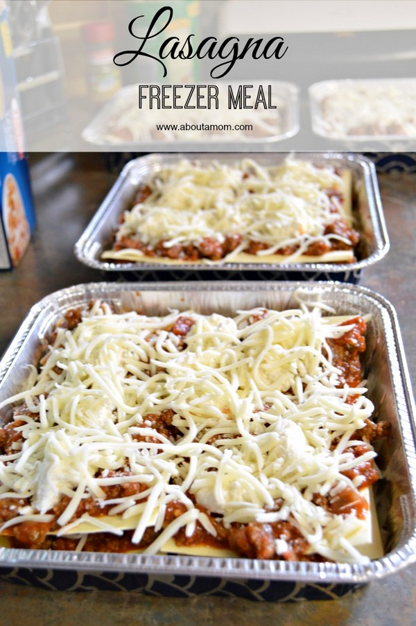Lasagna Freezer Meal Recipe