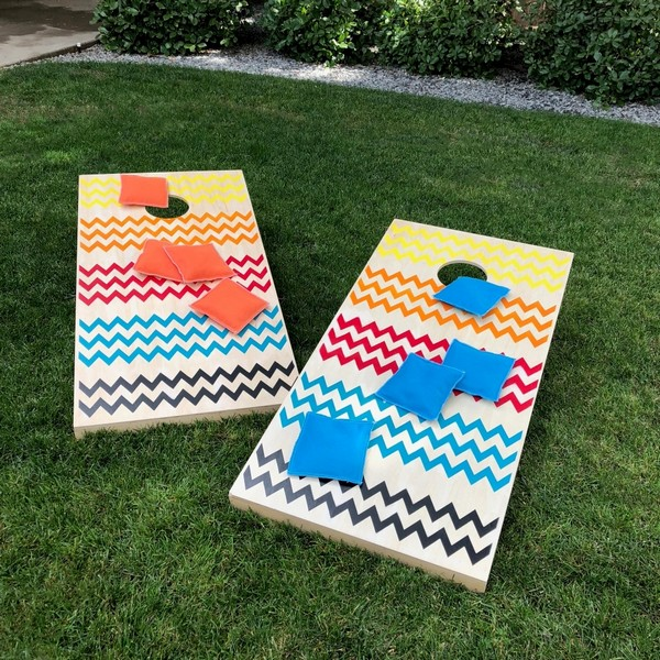 Painted Cornhole Outdoor Party Game