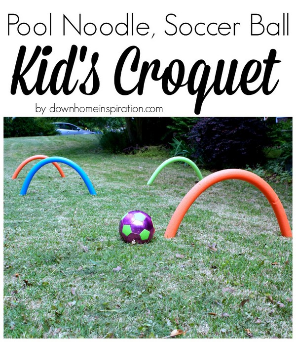 Pool Noodle Soccer Ball Kid's Croquet