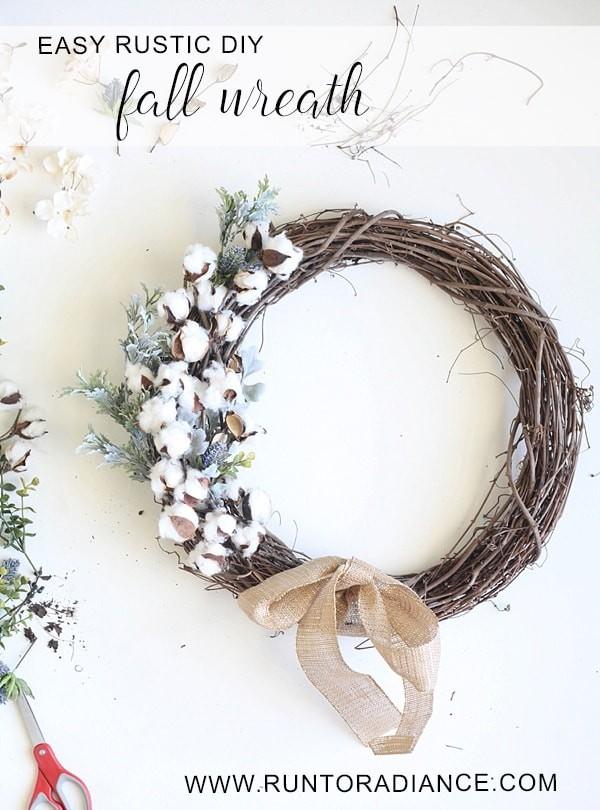 Pretty DIY Fall Wreath