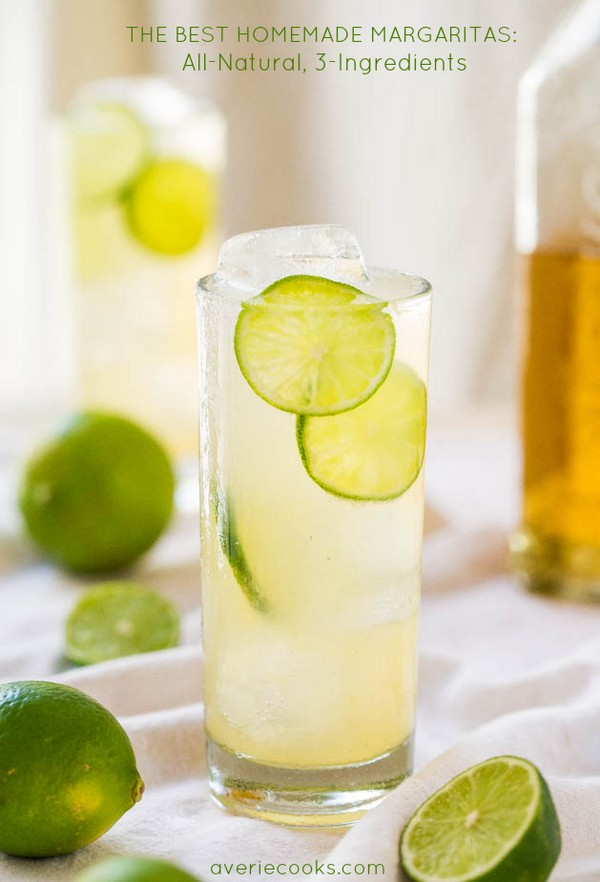 The Best Homemade Margaritas All-natural 3-ingredients