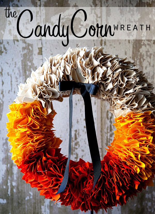 The Candy Corn Wreath By Heather From Whipperberry