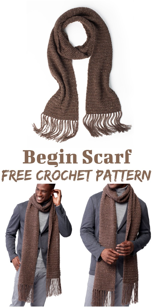 Crochet Begin Scarf