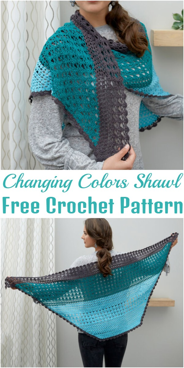 Crochet Changing Colors Shawl