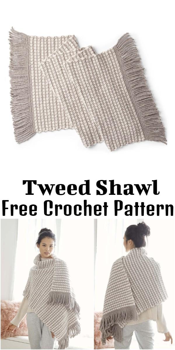 Crochet Tweed Shawl
