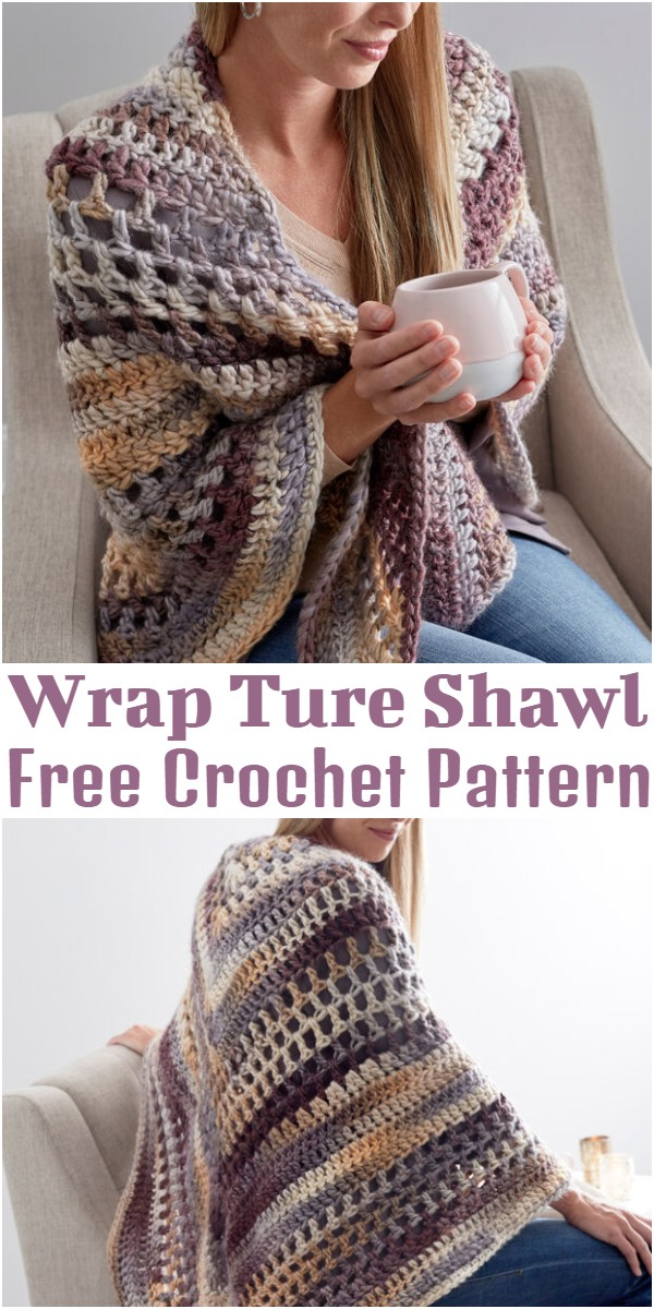 Crocheted Wrap Ture Shawl