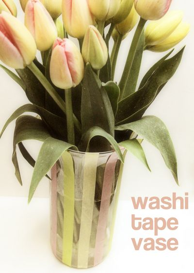DIY Washi Tape Tulip Vase